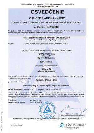 Certifikacia-kogalsteel-en1090-1a