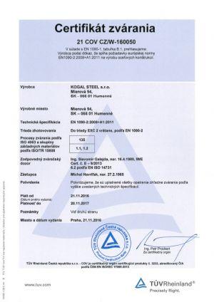 Certifikacia-kogalsteel-en1090-2a